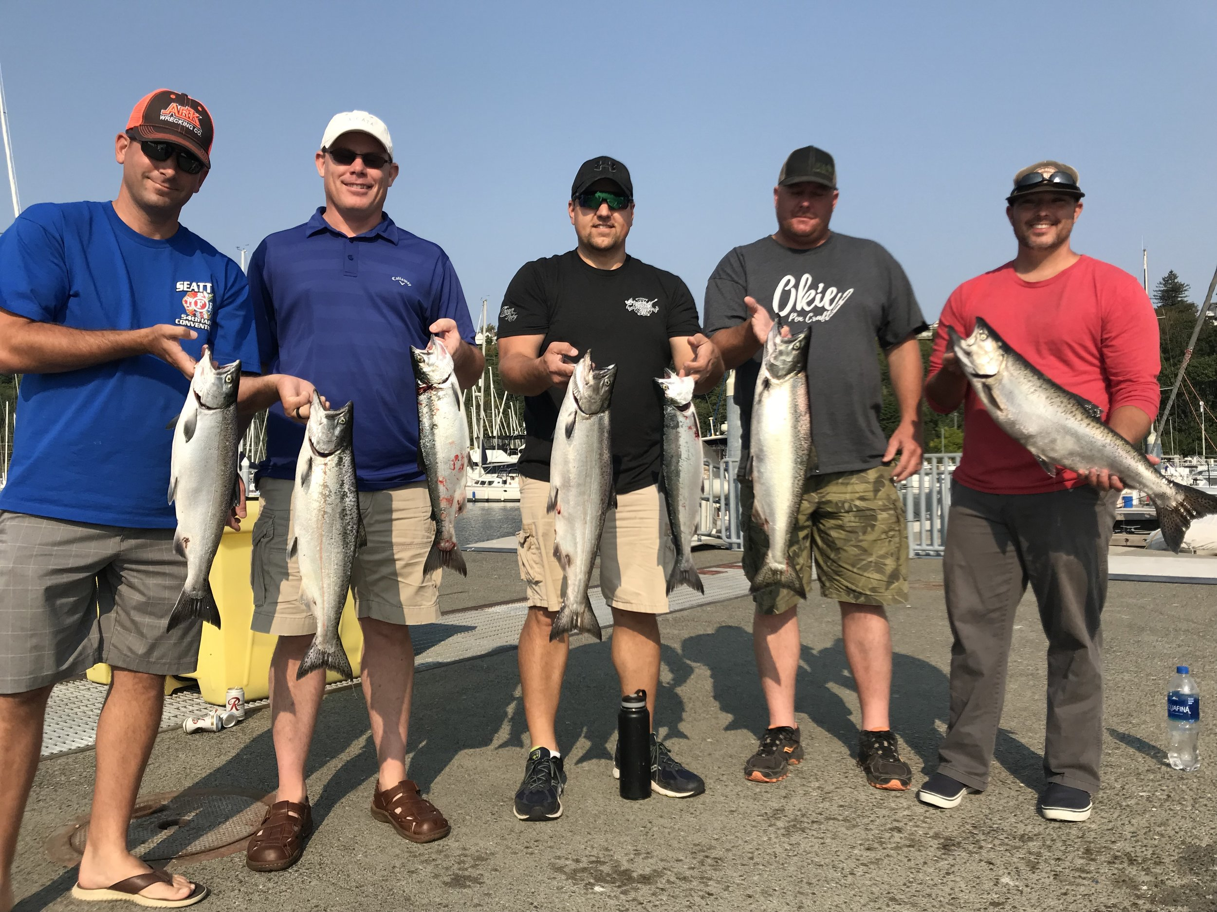 One of many successful afternoons fishing the Puget Sound out of Seattle,WA! Yes they bite when its Sunny and high 80's out