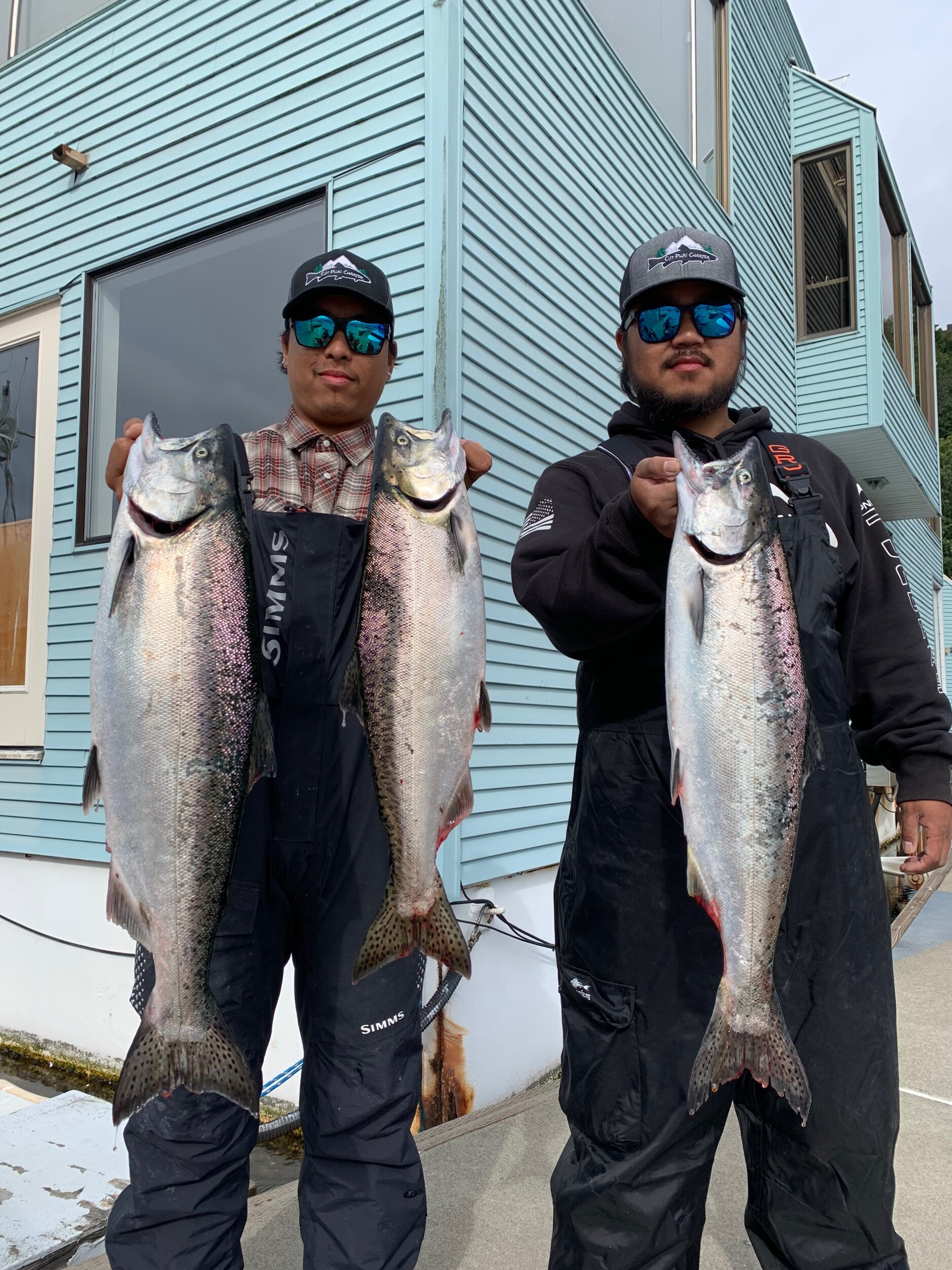 A few nice king salmon just hours before the season in the Seattle area closed down!