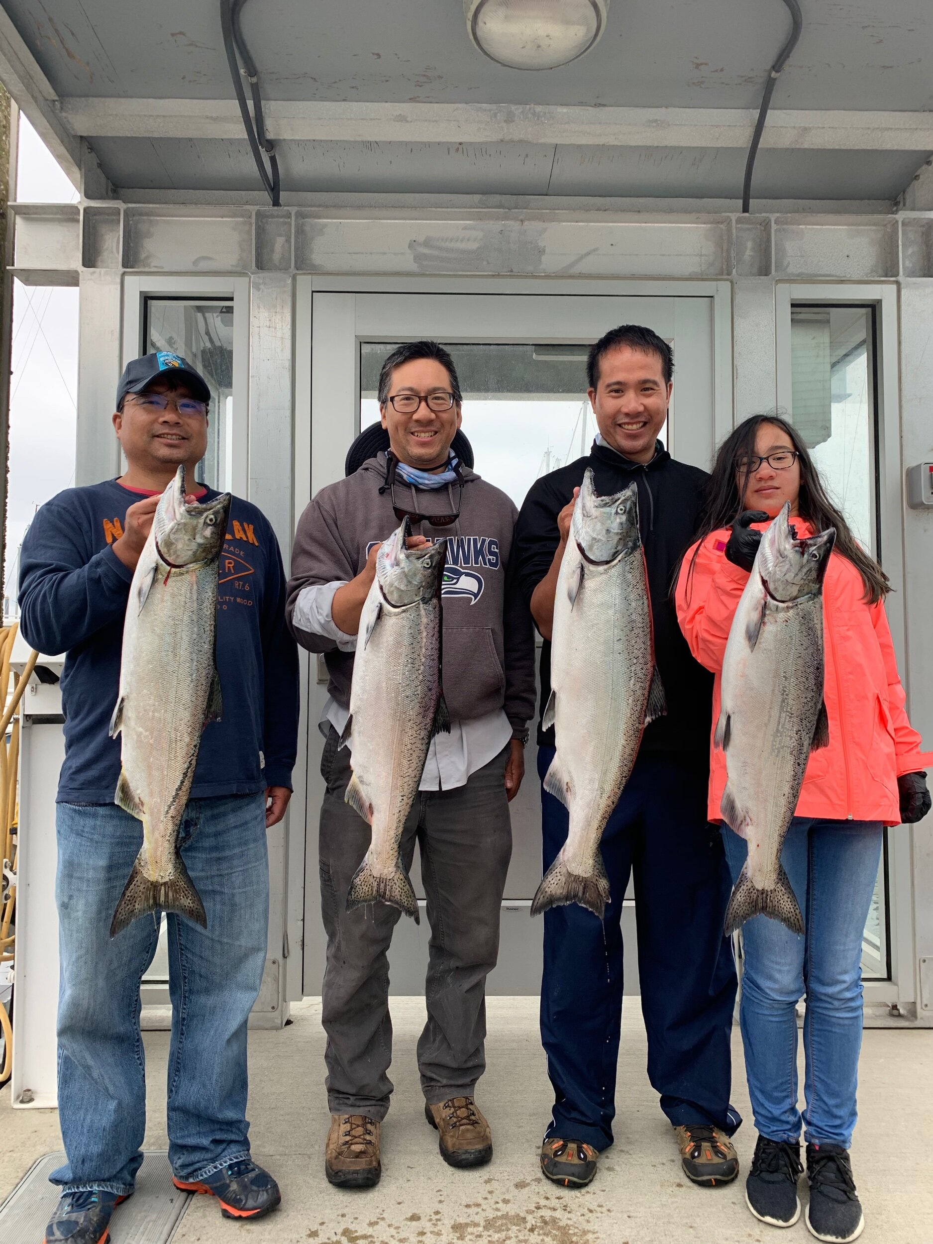 Limits of chinook caught fishing Seattle!