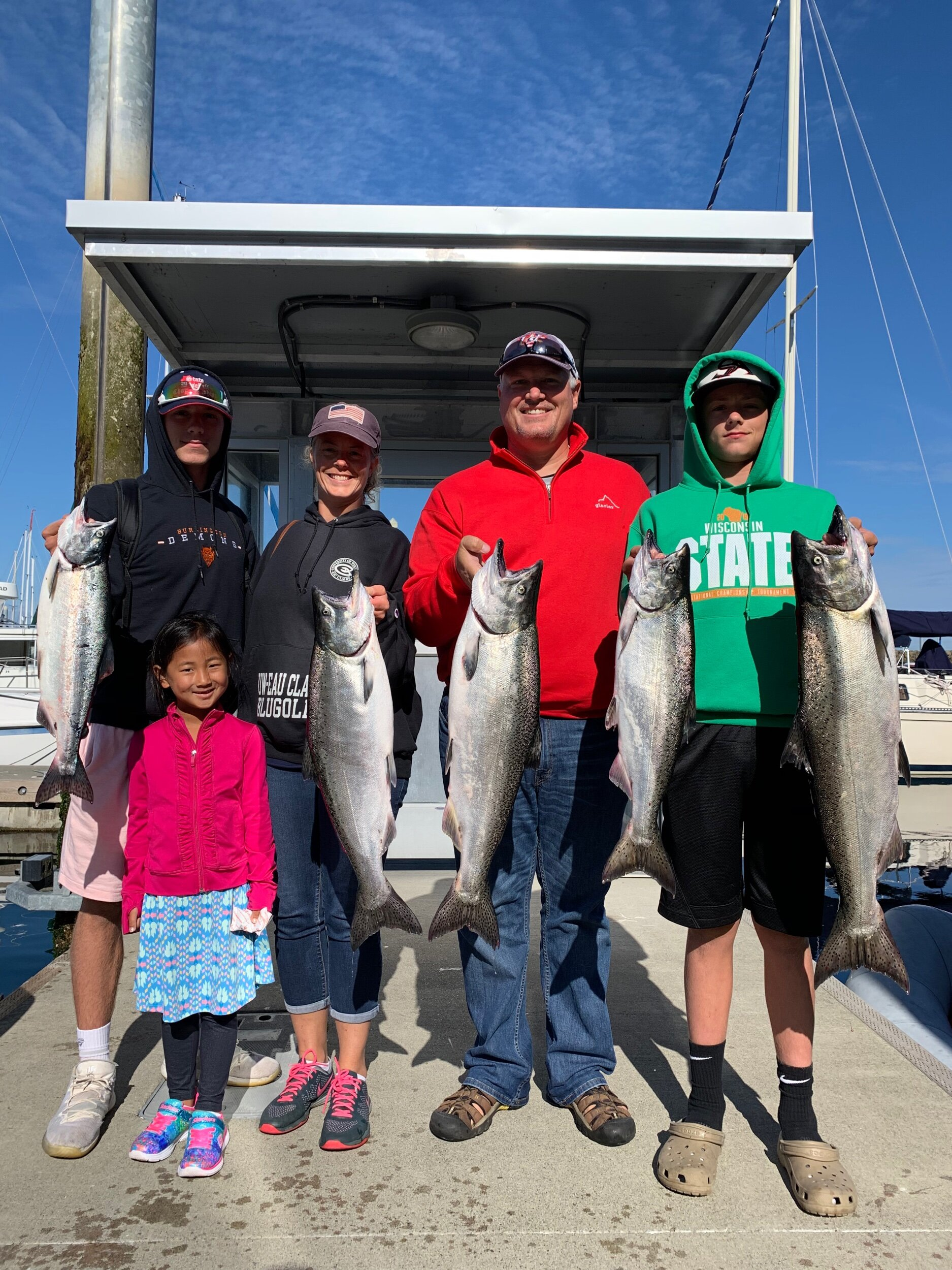 A great morning Seattle salmon charter!