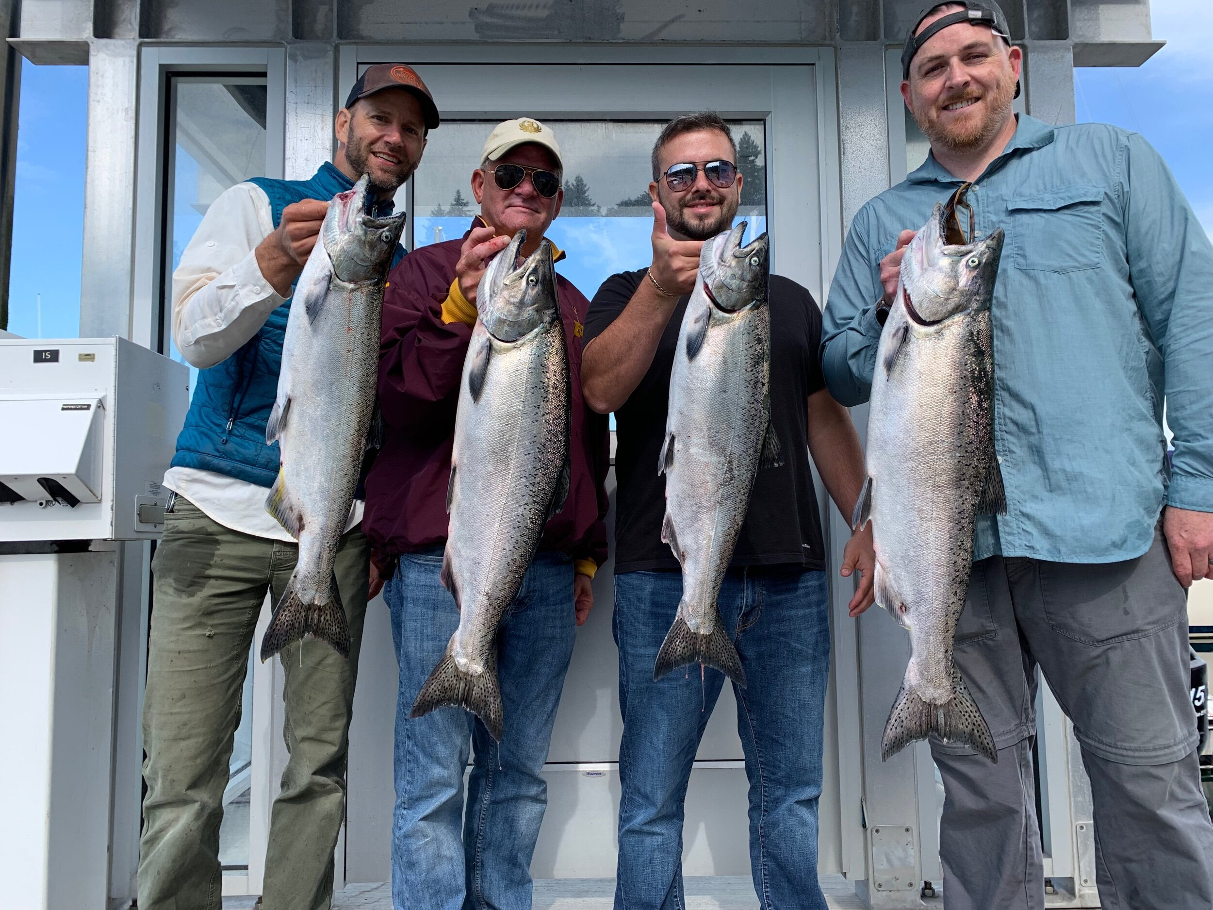 Big grade of Seattle king salmon