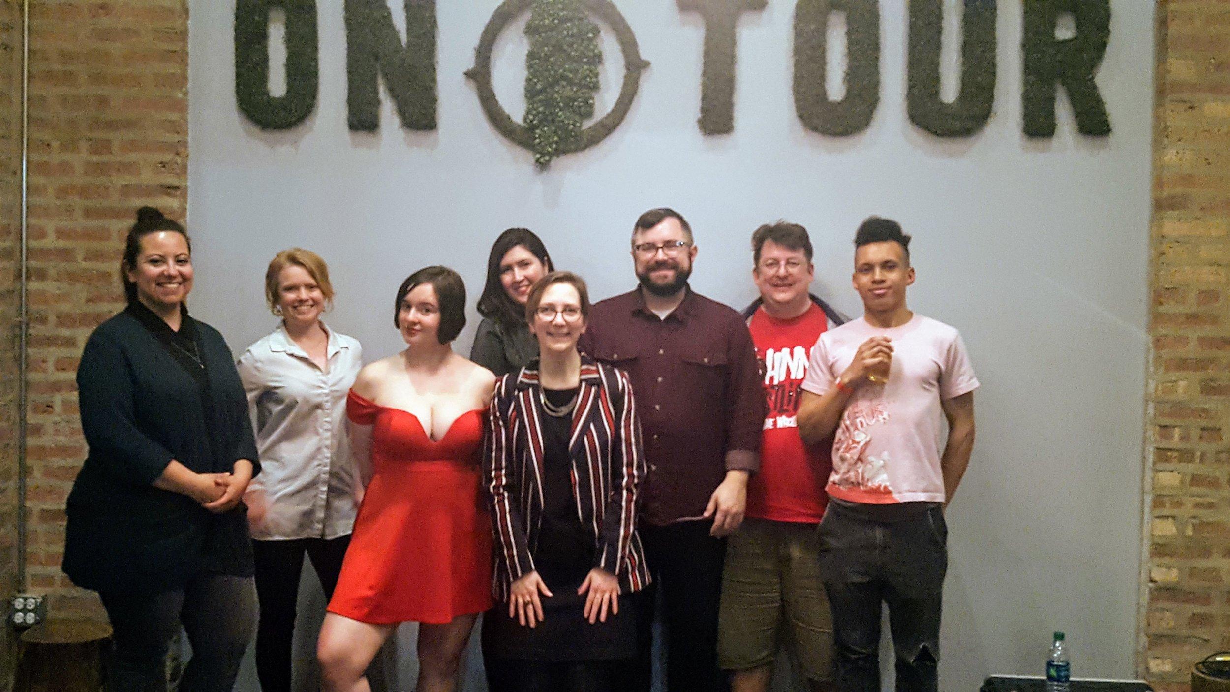 Dee Fuentes, Sarah Steimer, J.J. Ranvier, Gina Watters, Christina Brandon, Jason Fabeck, John Weagley, Tristan Zemtseff. (Not pictured: Amanda ReCupido).