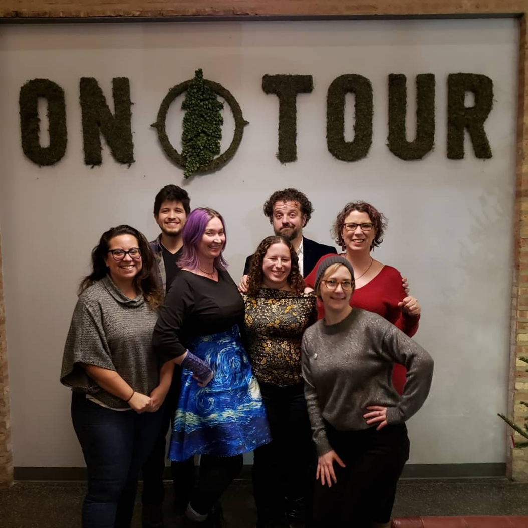 From left: Dee Fuentes, Zapata, Abby Dryer, Jessica Katz, Charles Schoenherr, Christina Brandon, Molly Schlemmer. Not pictured: Laura Hawbaker and Lindsay Eanet).