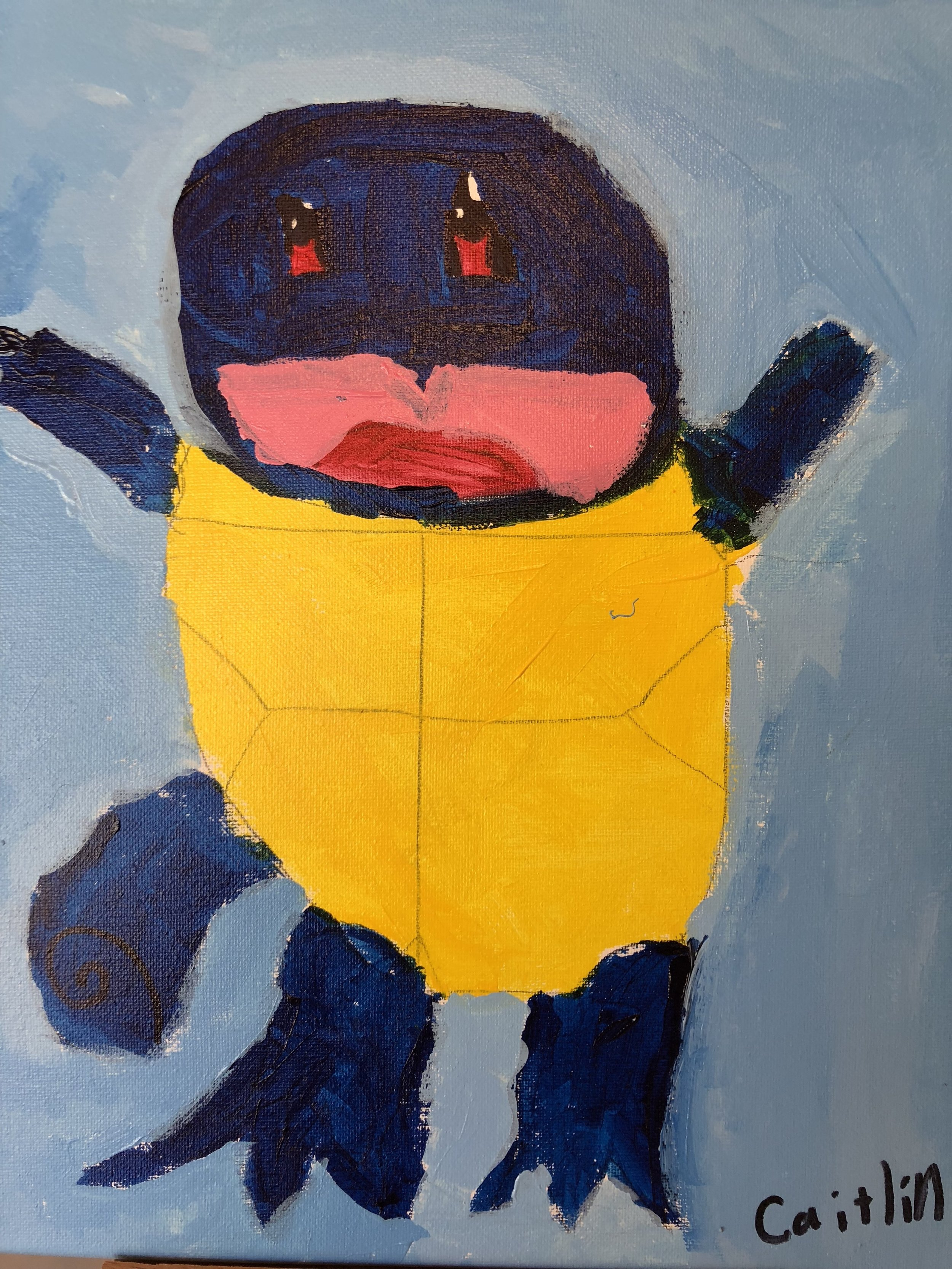 Squirtle in Acrylics  By Caitlin