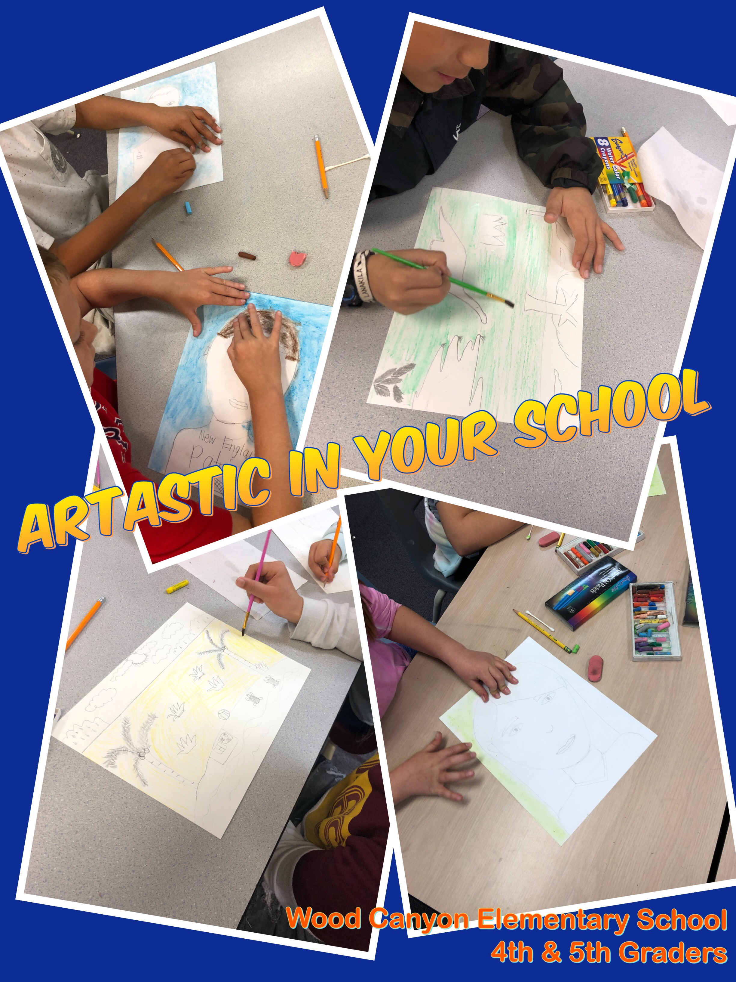 Artastic in your school - Looking to bring back art classes in your school? Artastic Studio OC works closely with PTA to ensure that students are able to express their own individuality, creativeness, and unique character through their artwork while learning the basic art fundamentals, techniques, and most of all they have fun doing it.Contact us for more details!