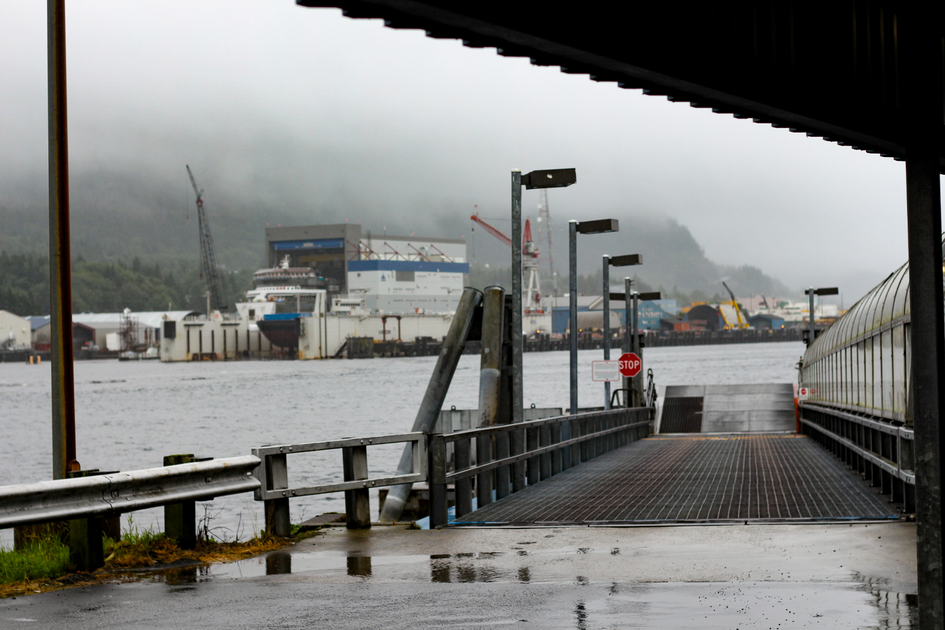 The Ferry Dock... The Airport in Ketchikan is literally on an island so in order to get to the actual city, you have to ride the Ferry over to the main island!