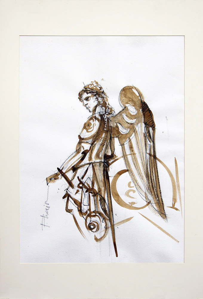 Warrior Angel_paula craioveanuu_ink and graphite and paper_7-x50cm_cm_28x20in.jpg