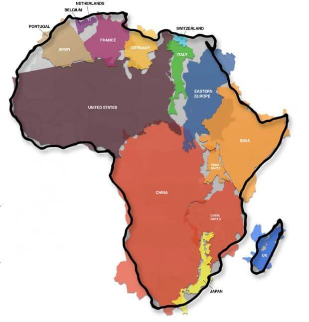 how bug africa is