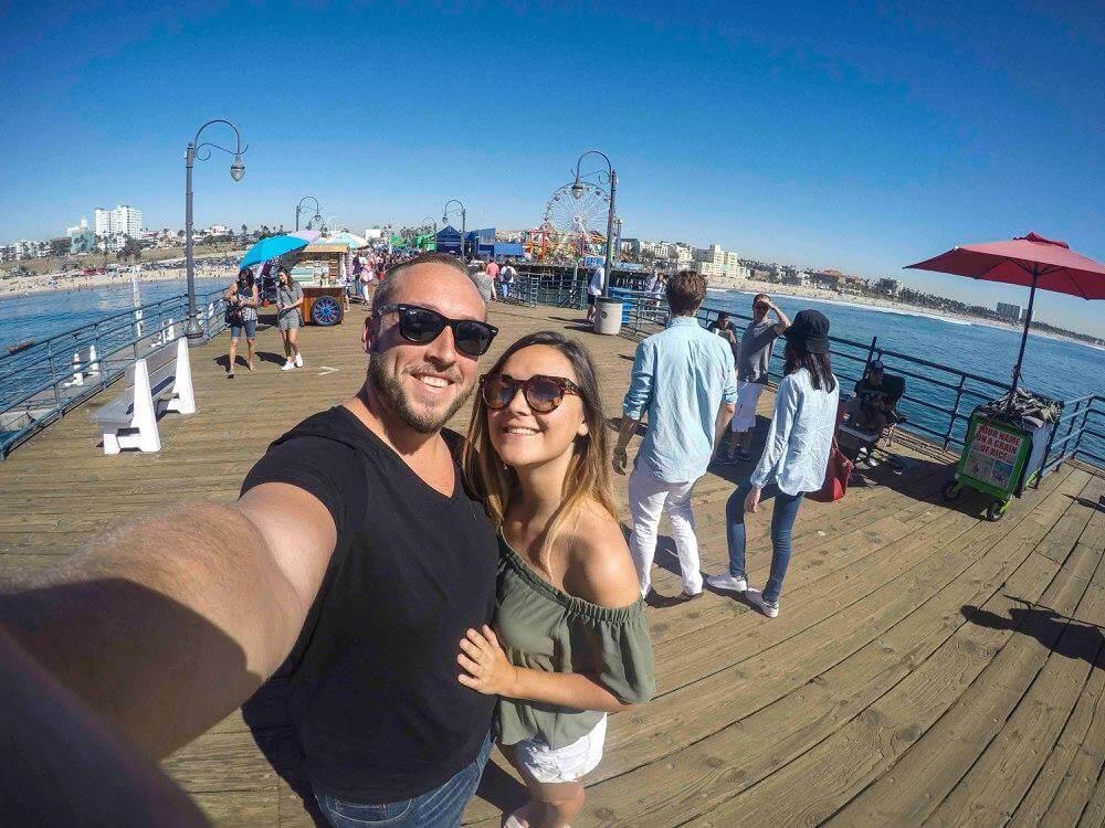 48 hours in Los Angeles Santa Monica boardwalk