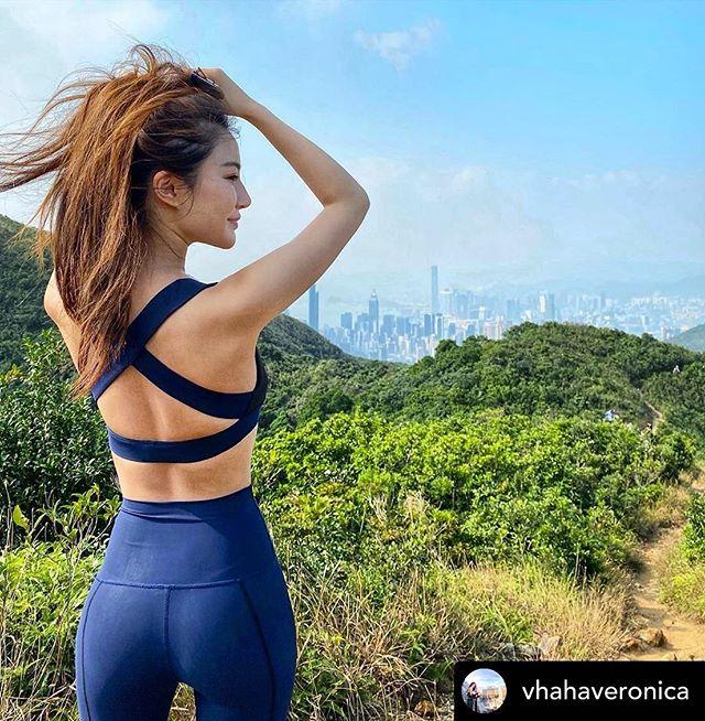 #repost @vhahaveronica in our Dream Legging and Cross Bra @kindred_social #hongkong #influencer #tiltathleisure