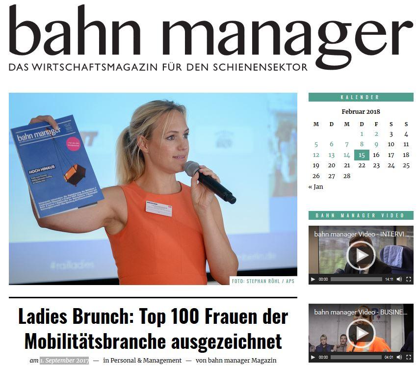 Bahn Manager Magazin - 1. September 2017