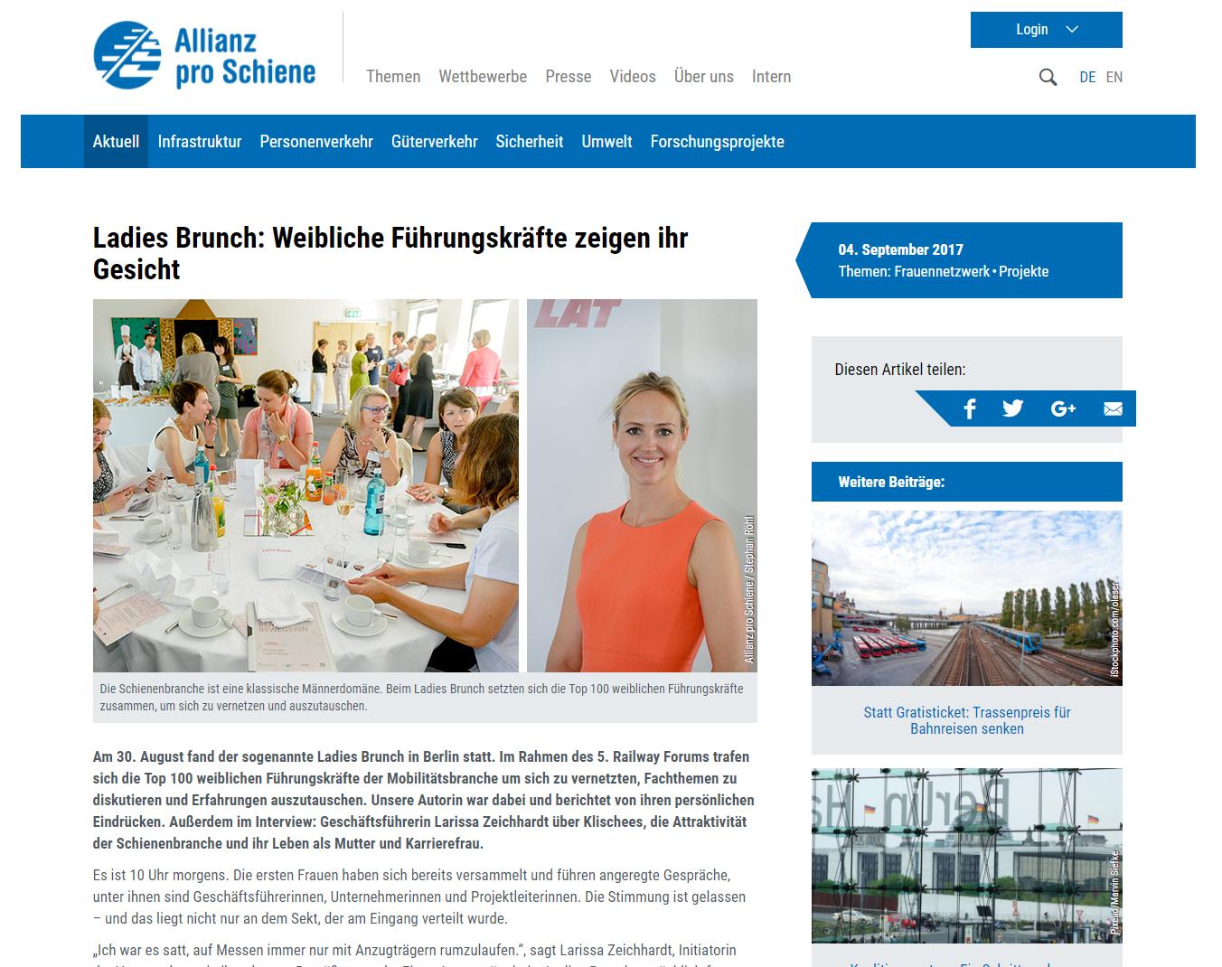Allianz pro Schiene - 4. September 2017