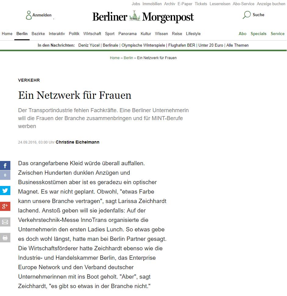 Berliner Morgenpost - 24. September 2016