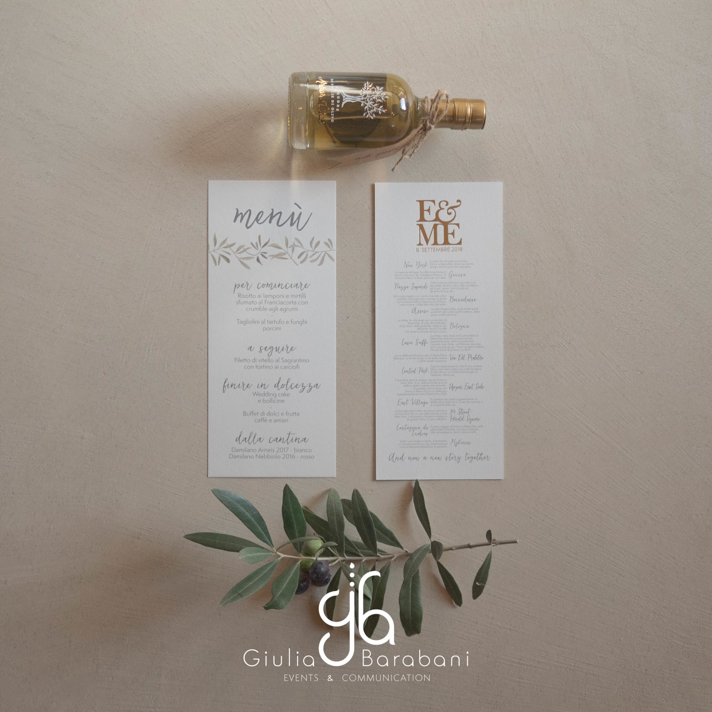 Menù e bomboniera Matrimonio - wedding stationery