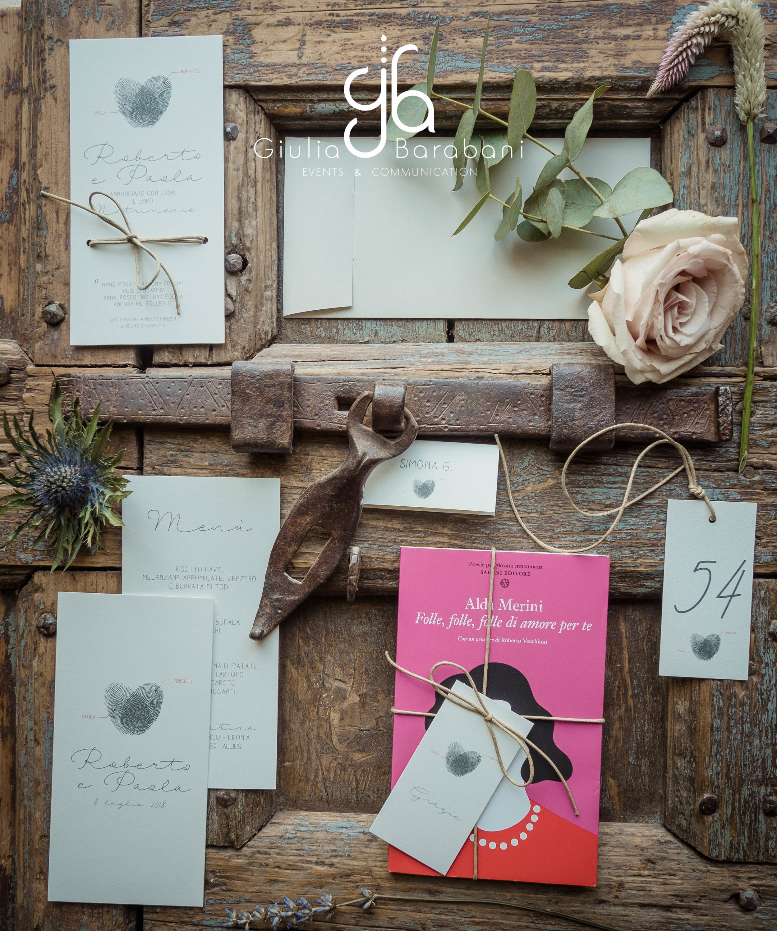 Wedding stationery Roberto e Paola