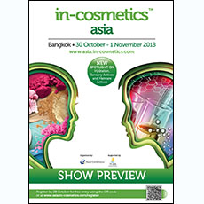 in-cosmetics Asia Preview 2018   in-cosmetics@showtimemedia.com