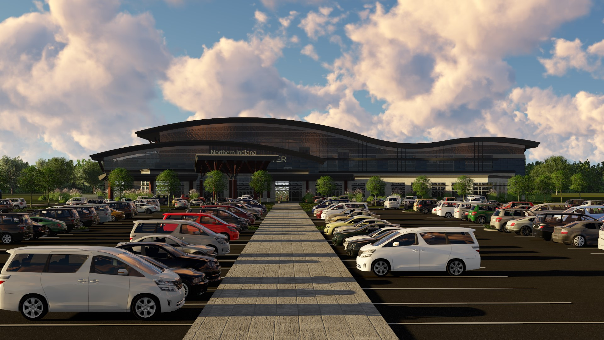 parking and accessibility  are intrinsic elements of the campus, designed to be as visually engaging as it is functional.