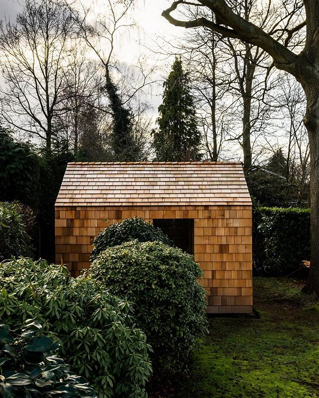 When your friend in the U.K. builds the cutest shed in his backyard you make up any excuse to go photograph it. @wessssty