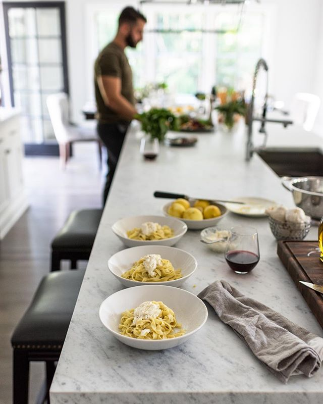 I really need some pasta right now.  Antonino Buzzetta for @bertazzoniitalia styling by @miraevnine . . . #bertazzoniitalia #kitchendesign #pasta #hamptons #modernhome #interiors #interiorstyling