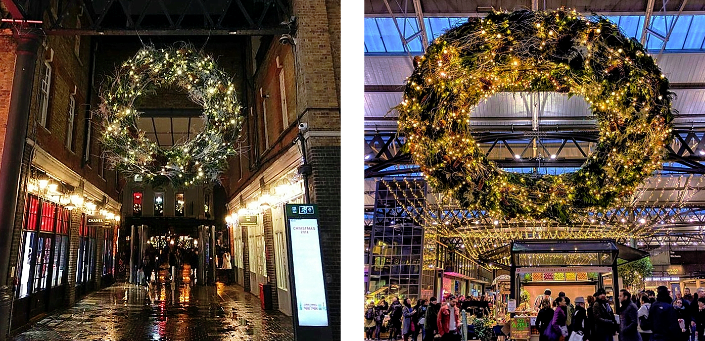 OLD SPITALFIELDS MARKET 2018 CHRISTMAS DECORATIONS