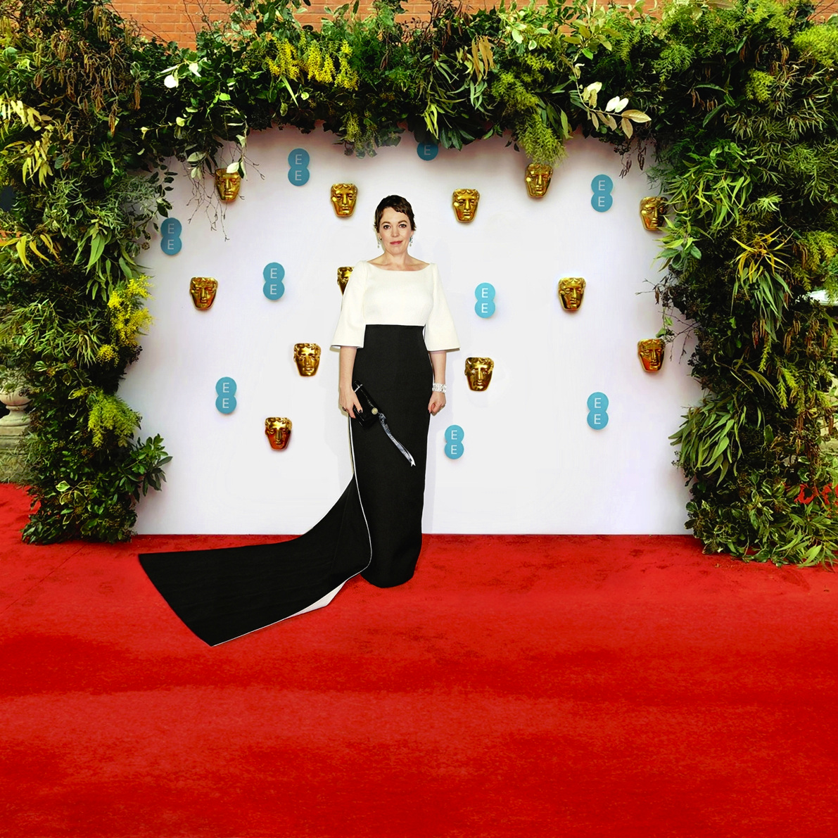 OLIVIA COLMAN ON THE RED CARPET ARRIVING FOR THE 2019 EE BRITISH ACADEMY FILM AWARDS
