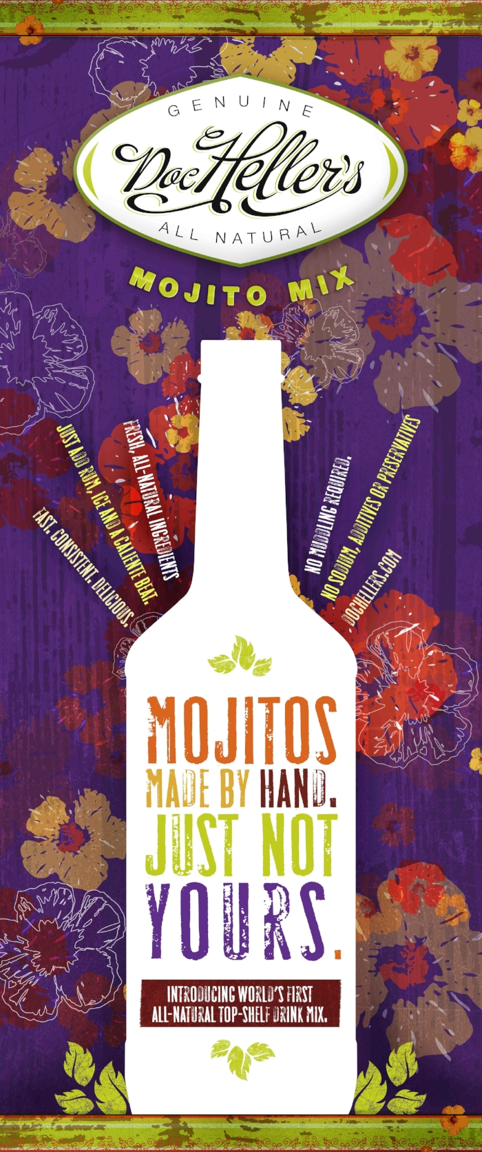 Doc Heller's Mojito Mix | branding, packaging, print, digital, web, collateral, trade show