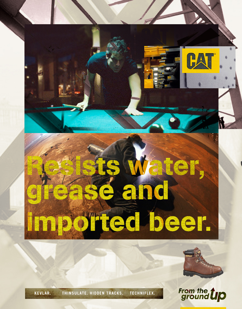 CAT Footwear   print, POS // concept, copywriting, art direction