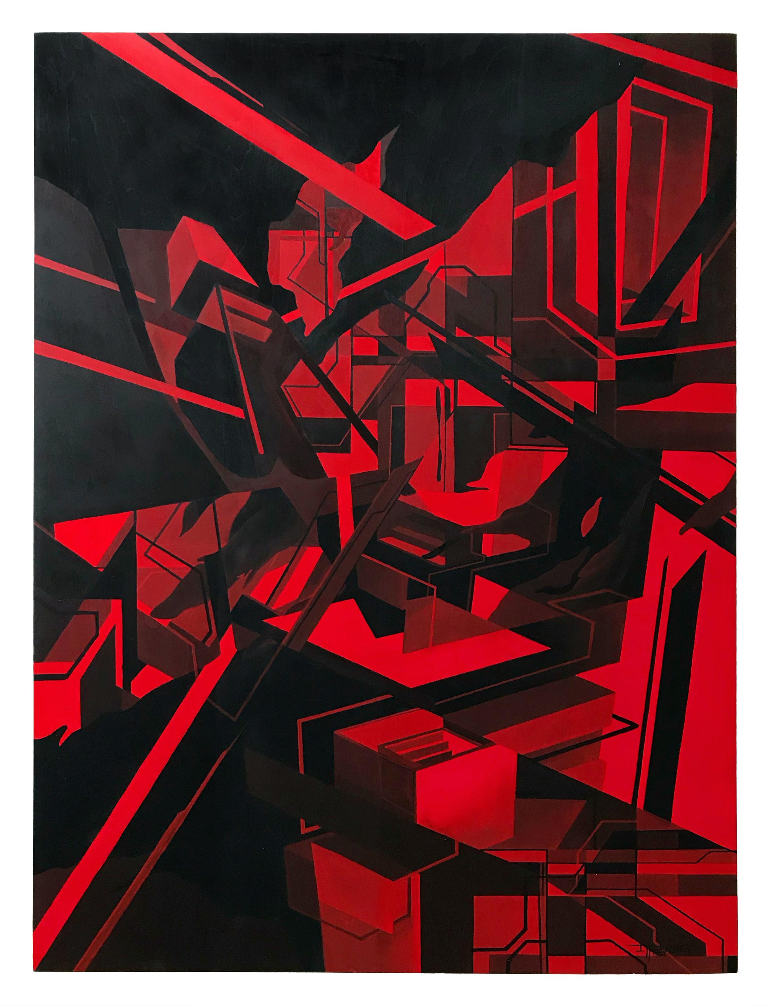 Plexus - 60cm x 80cm x 5cm - Acrylic on wood - 2018