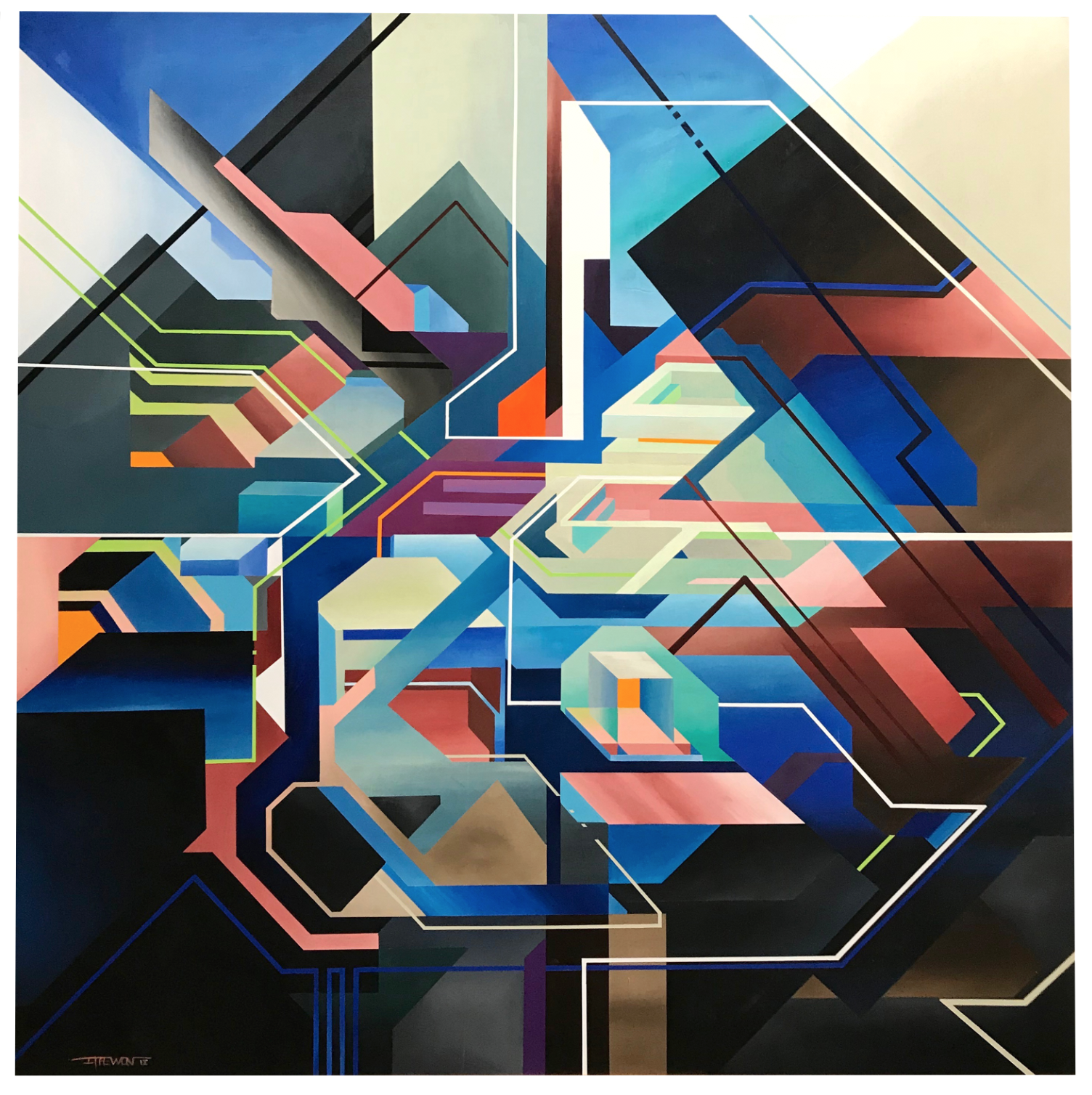 Half Light - Acrylic on Wood - 150cm x 150cm x 5cm - 2018