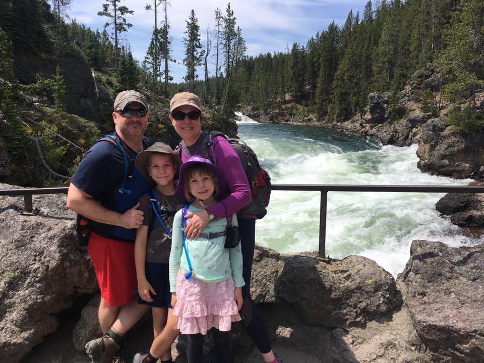 John and his family at Yellowstone.