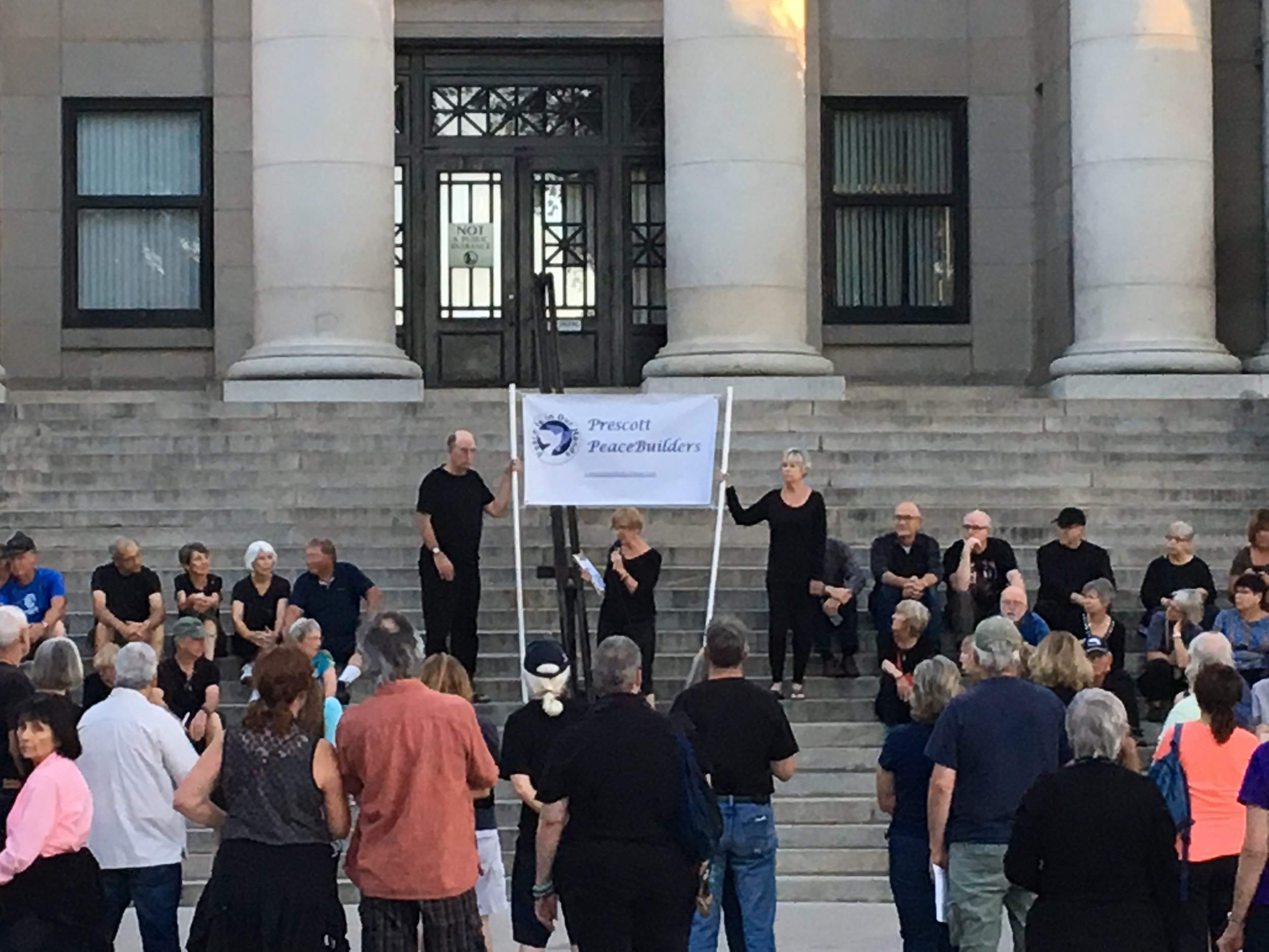 Peace vigil in response to the shootings at El Paso, TX and Dayton, OH, August 2019 -