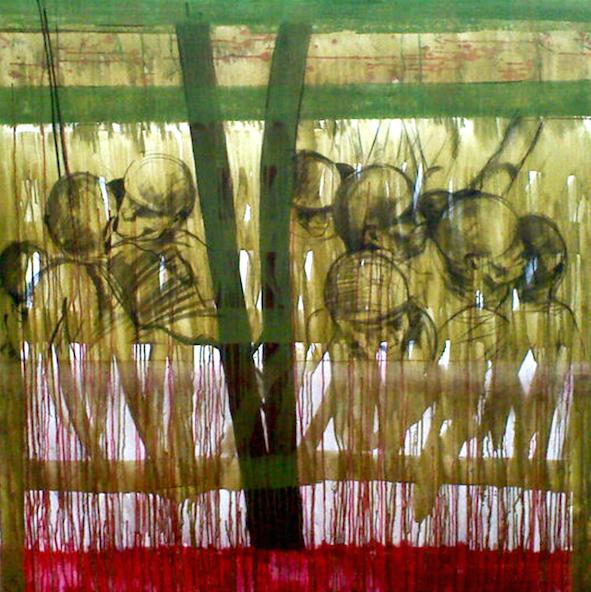 La Révolution, 150x150 cm, Acrylique sur Toile