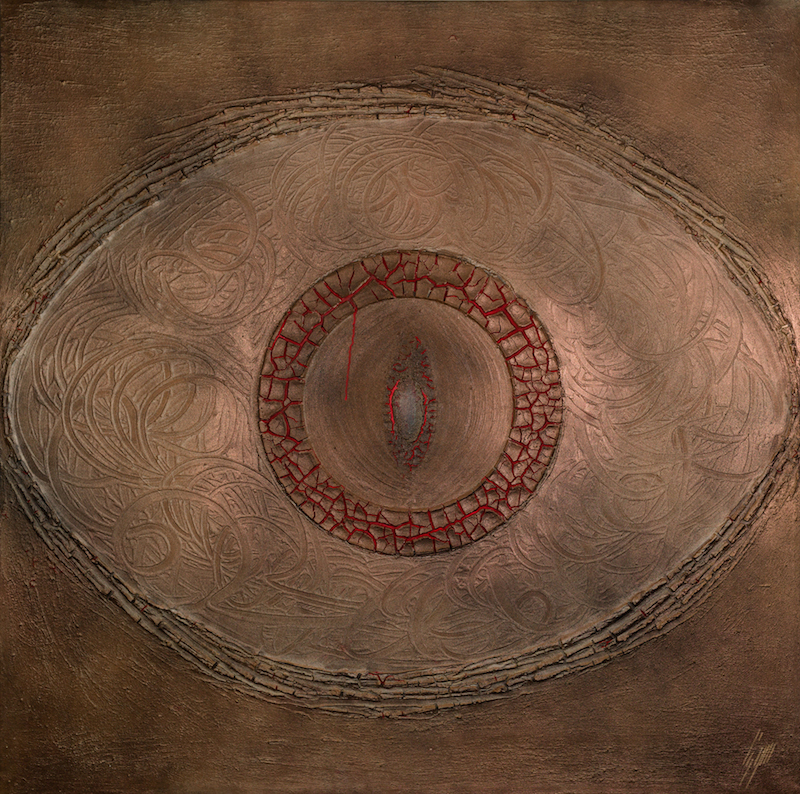 Cosmos, 2014, technique mixte sur toile, 150 x 150 cm..jpg