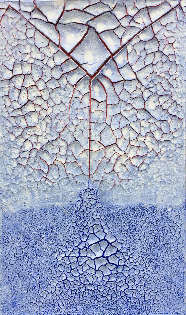 À la branche, 2017, technique mixte sur toile, 100 x 50 cm..jpg