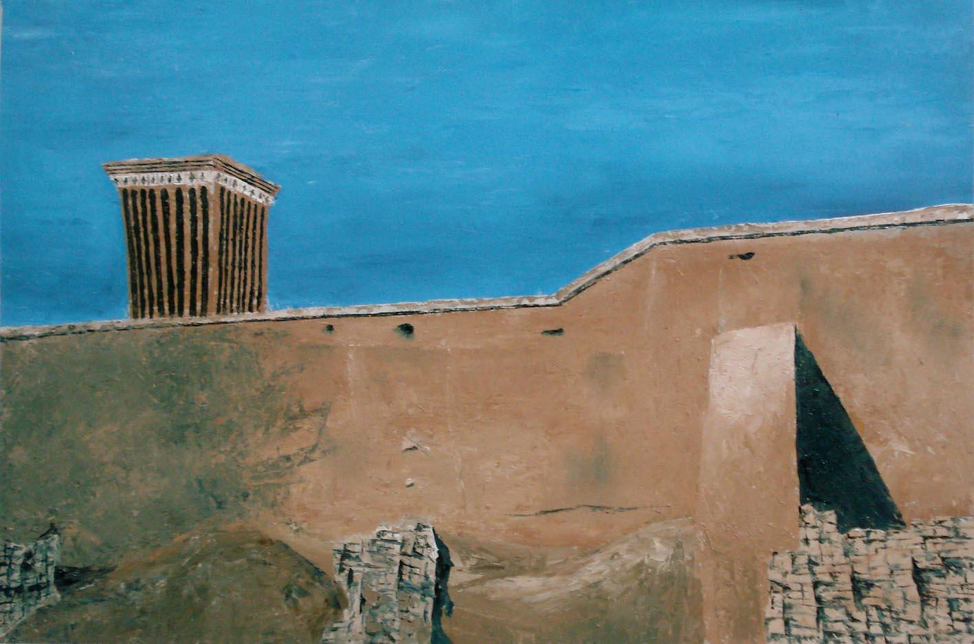 Yazd, 70x100cm, huile sur Carton 2008.jpg