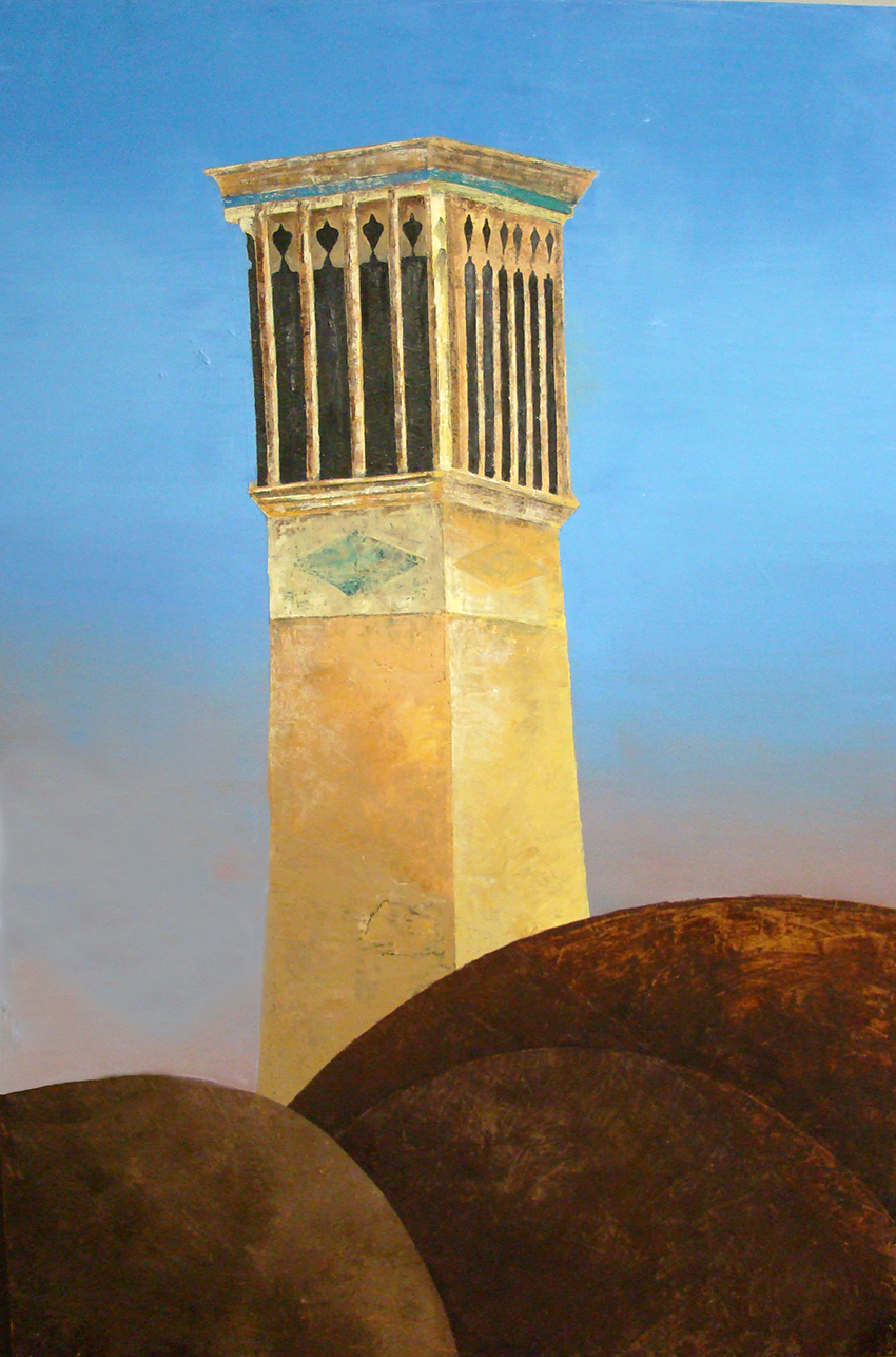 Yazd3,huile sur Carton 80x120cm, 2008.JPG
