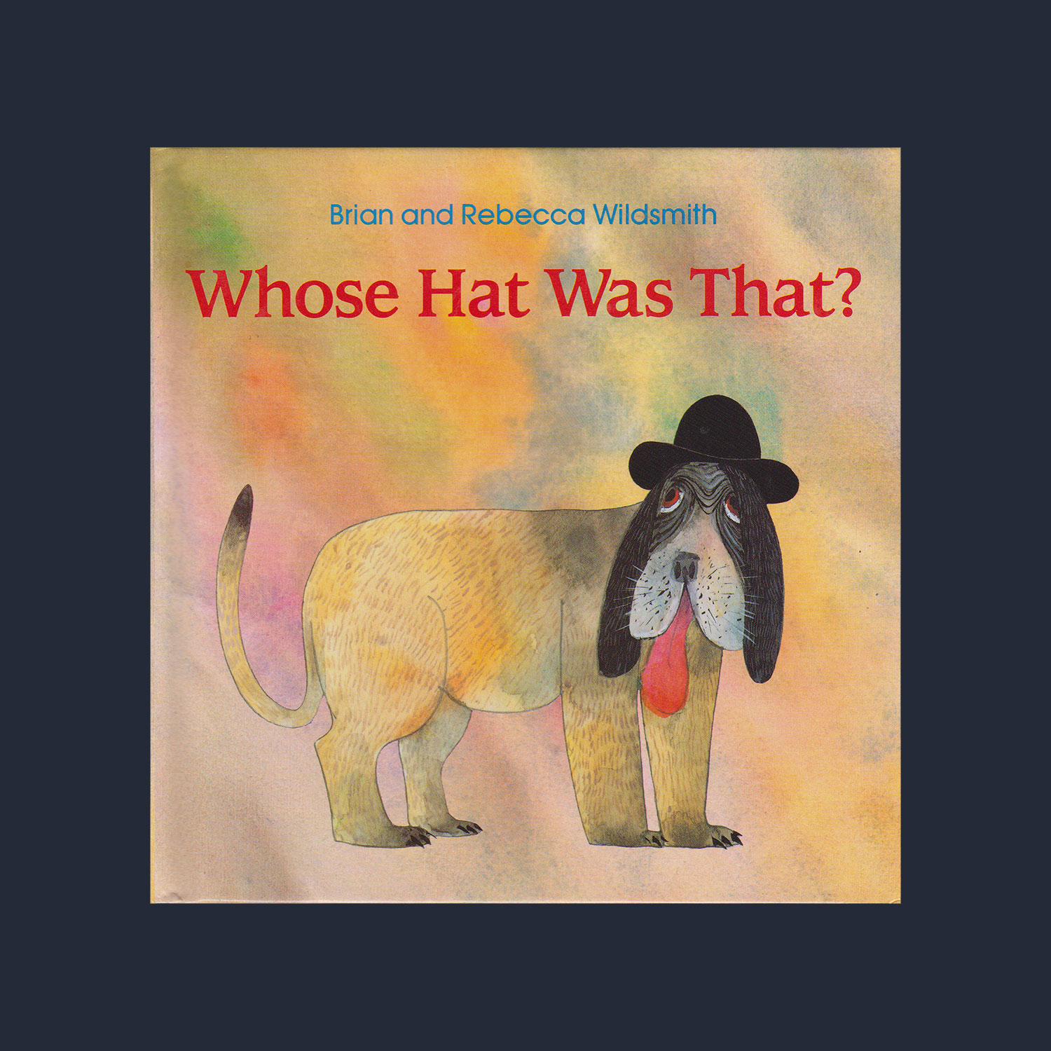 """WHOSE HAT WAS THAT ? - 1993""""As told through beautiful illustrations, a mischievous wind travels to several different countries, blowing the hats off people's heads, landing them on a few surprised animals, and, finally, blowing the hats to the moon."""""""