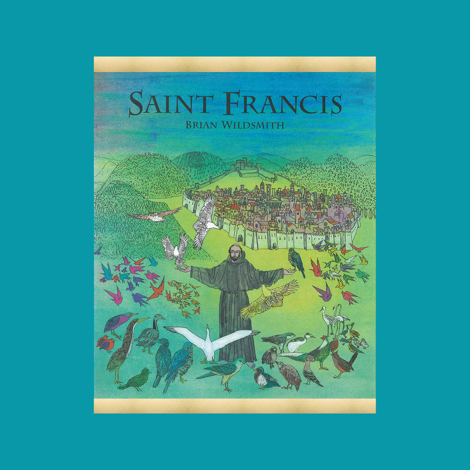 """SAINT FRANCIS - 1995""""The is the story of the life of 12th century Christian monk who renounced an affluent lifestyle and took to the streets, restoring ruined churches gave up his wealth and lived and worked among the poor. He loved all God's creatures and called them his sisters and brothers. His name was Francis.""""""""…a spectacular book in gorgeous colours lavishly laced with gold.""""Church Times"""