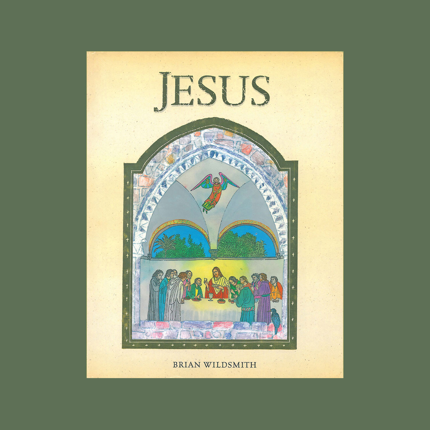 """JESUS - 2000""""In this stunning picture book, Brian Wildsmith portrays the life of Jesus of Nazareth.""""""""In a series of powerful scenes framed by gold. After beginning with the birth of Jesus in Bethlehem and the visit of the shepherds and wise men he shows Jesus' youth in Nazareth, his baptism and temptation and his teaching and miracles. Finally Wildsmith depicts Jesus' entry into Jerusalem, his death on the cross, his resurrection and ascension.""""""""Each frame, reminiscent of an early gothic style, presents cameos of events enriched by Wildsmith's inspired sense of decoration. Pictures to be dreamed over, and meditated upon, over and over again.""""Times Educational Supplement"""