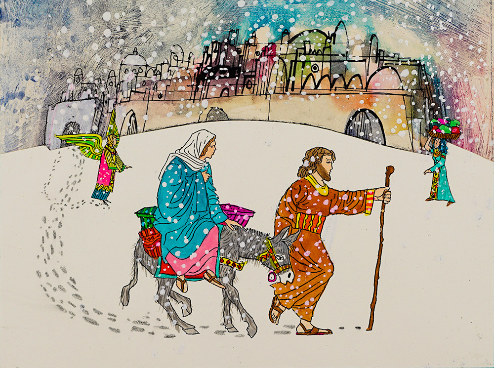 Mary-and-Joseph-search-for-shelter-Brian-Wildsmith.jpg