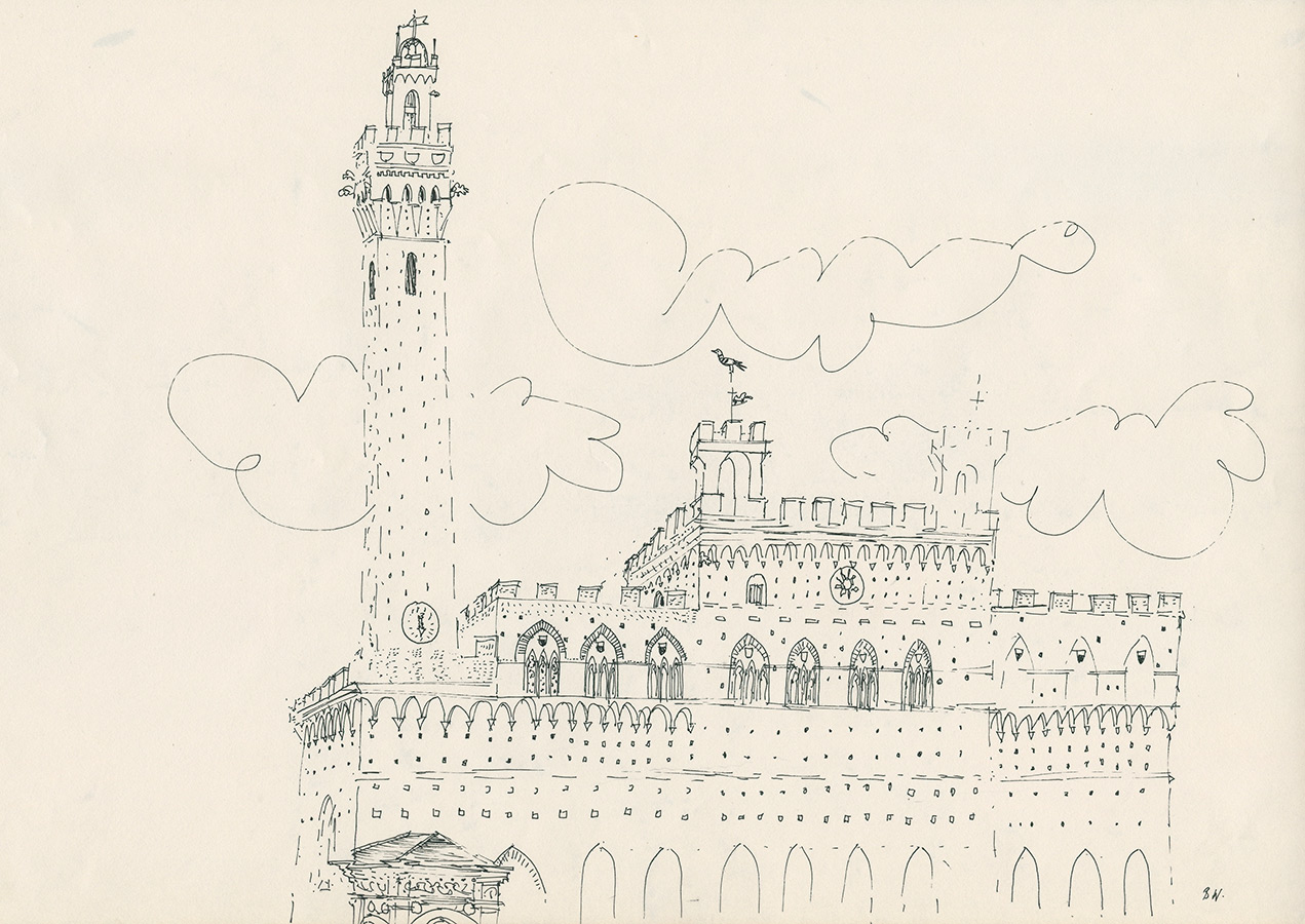 Brian's drawing of the Palazzo Publico.