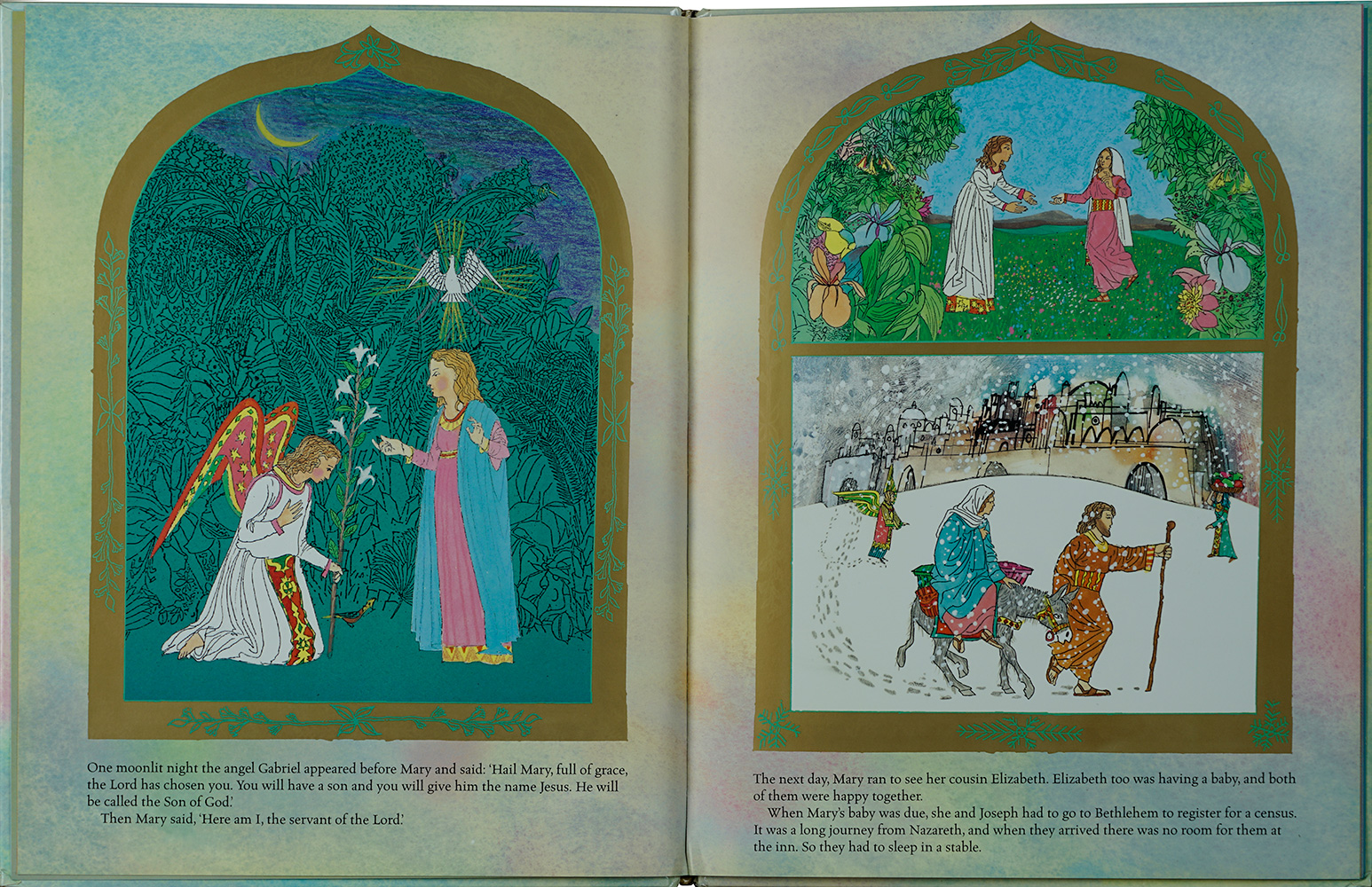 Photograph from the book to show its layout in the form of Renaissance panel painting, notably polyptychs which were often foldable altar pieces.