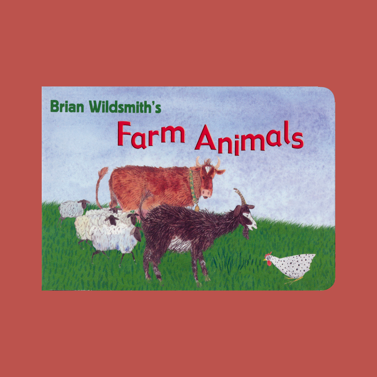 """BRIAN WILDSMITH'S FARM ANIMALS - 2007""""The illustrations for these chubby board books are compiled from several earlier Wildsmith books. Both are based on softly painted animal illustrations. One focuses on colors while the other highlights animal sounds. These would be the perfect choice for parents and caregivers to read with toddlers for entertainment as well as building basic knowledge skills."""""""