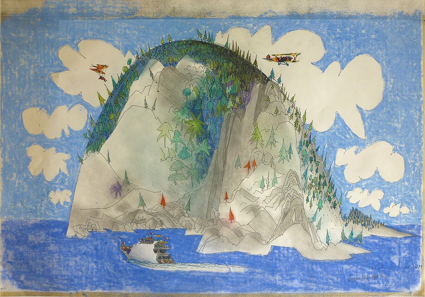 Colour-drawing-with-boat-and-aeroplane-Japan-Brian-Wildsmith.jpg