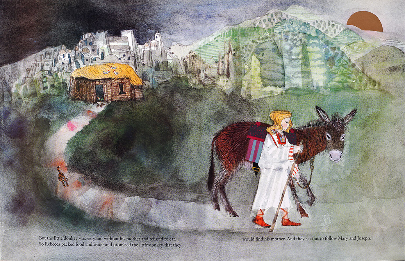 Rebecca-and-donkey-follow-Mary-and-Joseph-from-A-Christmas-Story-by-Brian-Wildsmith.jpg
