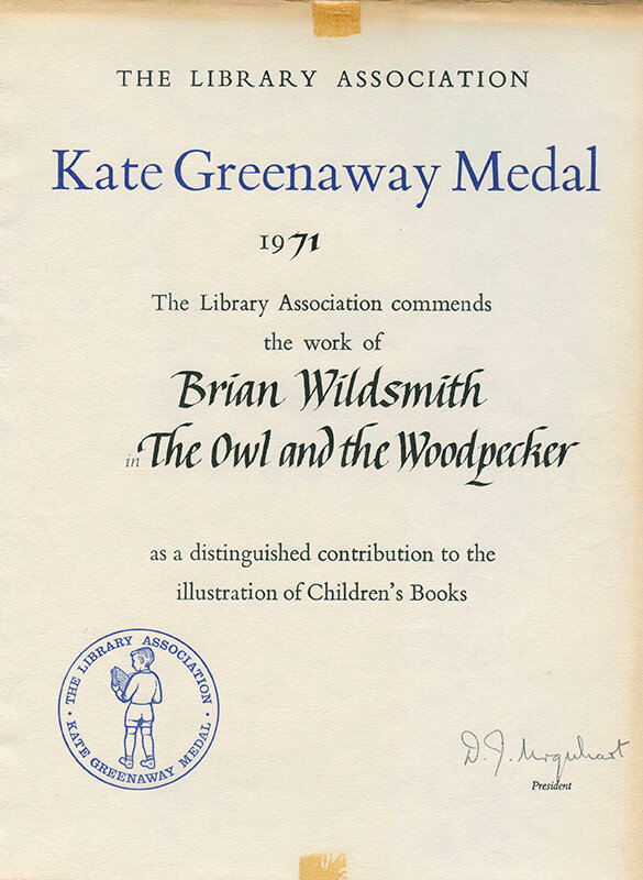 kate-greenaway-commendation-the-owl-and-the-woodpecker-Brian-Wildsmith.jpg