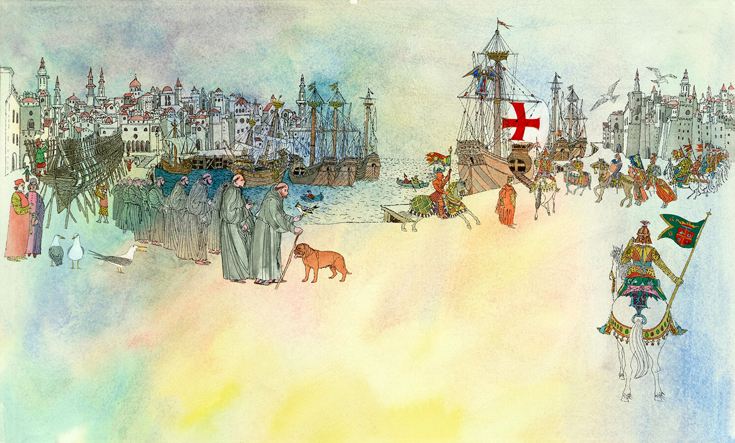 Francis-Crusades-original-illustration-from-Saint-Francis-by-Brian-Wildsmith.jpg