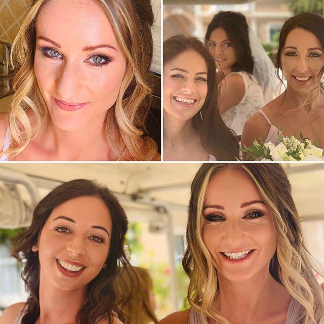 Ashley takes a look at her lovely bridesmaids  #algarvemakeupartist #algarveweddings #burgau #armanicosmetics #mac