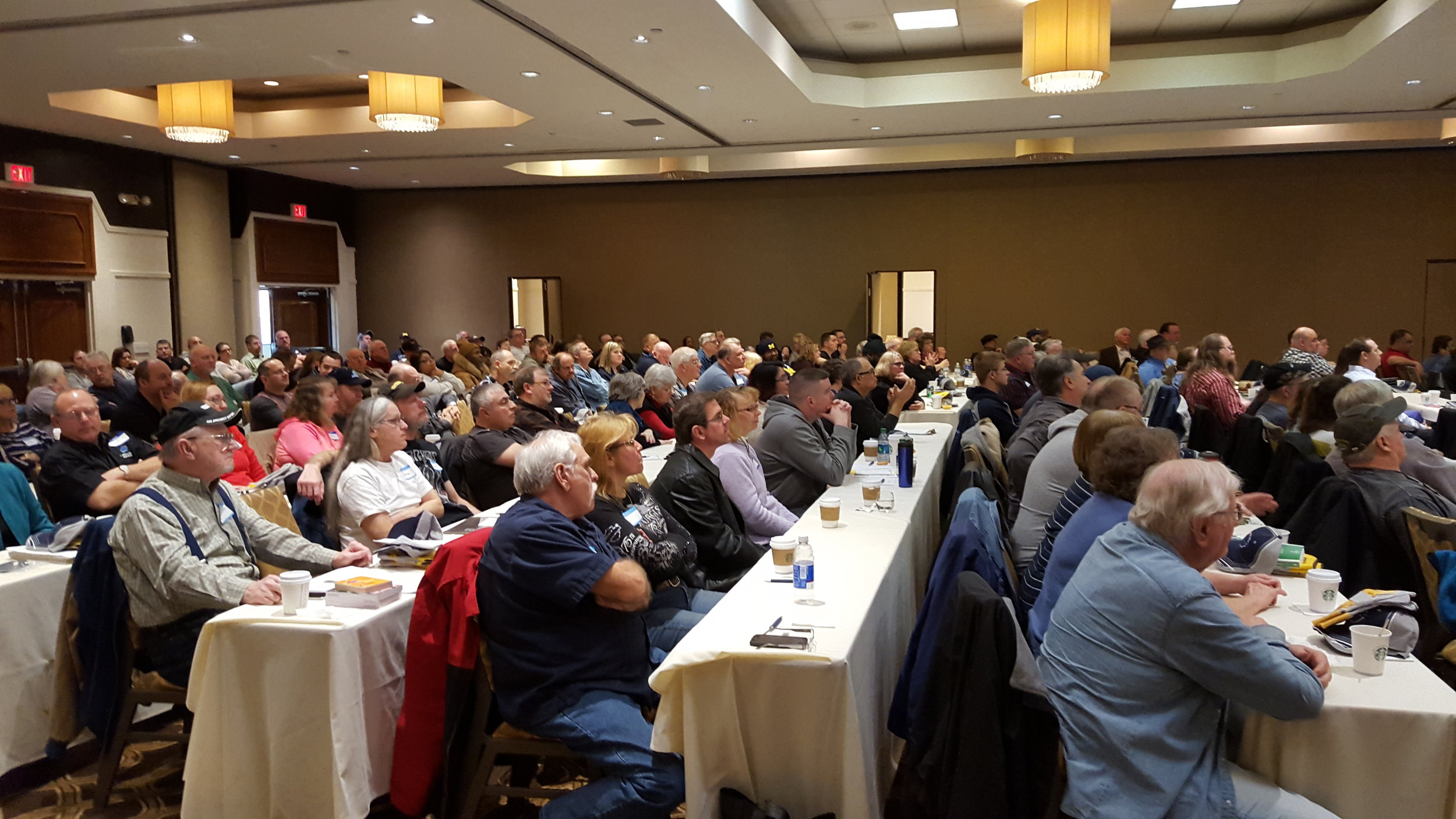 Landstar owner-operators and agents attending the 24th annual Safety Meeting in Romulus, Michigan.