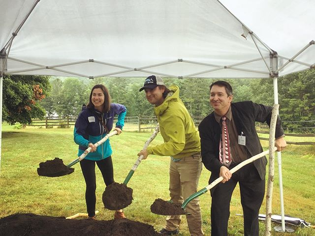 We thoroughly enjoyed a rainy morning at The Ecology School to celebrate the construction kickoff of a new dining hall and dormitories at River Bend Farm. It's been a pleasure to witness Drew Dumsch's visionary leadership and we are excited at the prospect of how many young people they will reach for generations to come! This is one special place and uniquely inspiring school! #livingbuildingchallenge #qffmaine